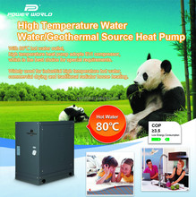 Top COP 80DegC Hot Water Outlet Geothermal Water Source Home Heating Solution Underground Heat Pump