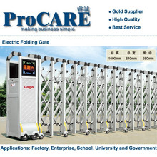 Stainless Steel Automatic Folding Slide Gate Motorized Industrial Gate