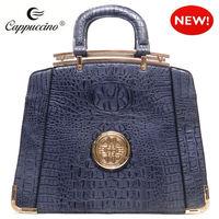 Fashion Logo designer Crocodile Top Handle ladies brand leather bags for women 2014
