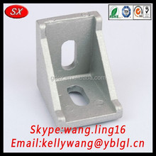 OEM 316 stainless steel angle iron bracing for curtain wall connecting, right angle bracket through RoHS certification