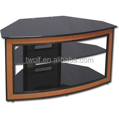 wooden panel plasma lcd tv stand mirror glass tv stand / tv table ...