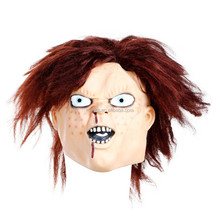 Halloween children play Latex Chucky Mask and party mask designed as Movies