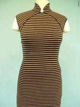Cheongsam style knit dress