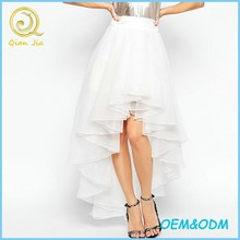 OEM Service Long Organza Skirt with High Low Hem