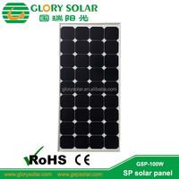 100 Watt sun power photovoltaic Monocrystalline Silicon Material mono solar panel for PV power station