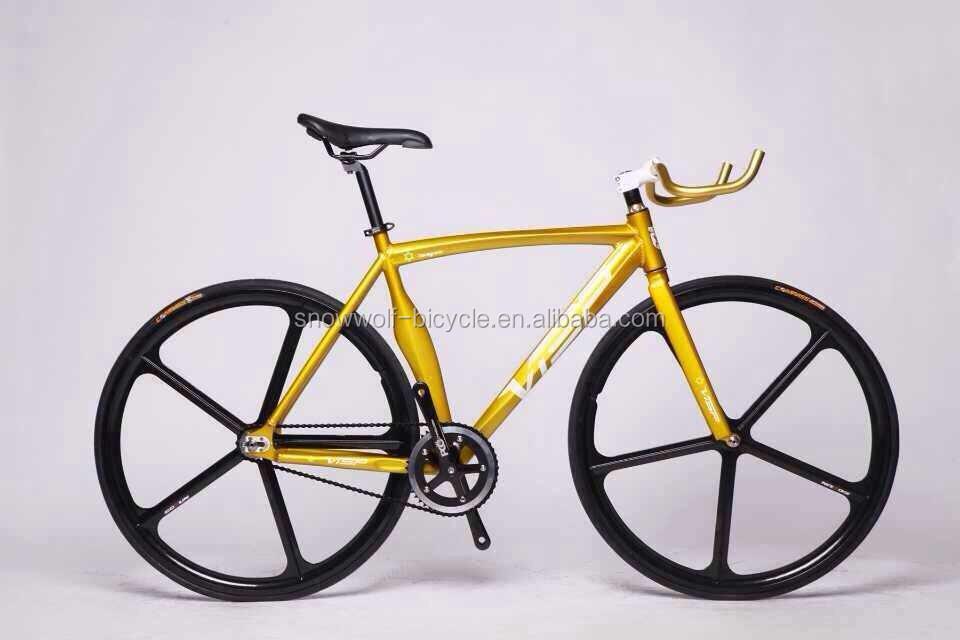 700c Magnesium Alloy Five Spoke Fixed Gear Bike Aero