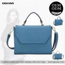 Guangzhou Gionar Factory Direct Designer Fashion Trendy Woman Leather Handbag