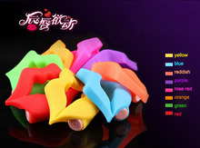 Macrofar wholesale sex toy ring mouth shape vibrating silicone penis cock ring
