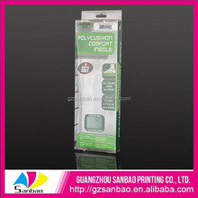 2014 wholesale eco hanging acetate packing box for insole