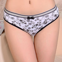 Colorful printed sale price sexy women cotton underwear for young girl wholesale stock pantise for women
