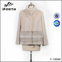 2015 New Style Fashion Ladies Mink Fur Coat Winter ladies coat