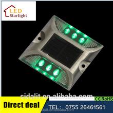 Promotional brand new IP68 high quality aluminum 6 LED solar road marker light