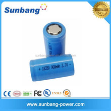 power tool 18350 3.7v 900mah rechargeable battery with high discharge rate 10c