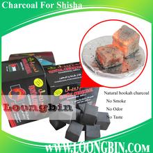 No sulphur no flame hookah charcoal 1 inch cube shisha coals