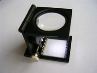 Alibaba China LED precision folding linen tester magnifying glass with optical glass lens