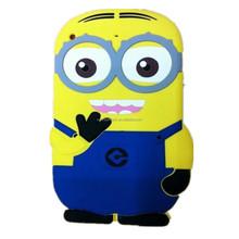 cute 3D minions despicable me silicone case for iphone 6, for apple iphone 6 silicone case