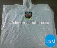 Clear Waterproof Hood Disposable Plastic Rain Poncho Cheap