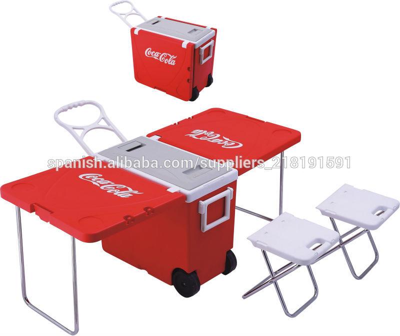 Mesa plegable caja de refrigerador mesa multifuncional - Mesas para ordenador con ruedas ...