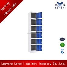 deep blue high class quality 6 door metal foot locker