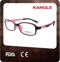 2015 kids flexible temple optical frame and kids eyeglasses