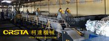 CRSTA PP PE waste plastic film crusher washing machine/recycling line granulating system