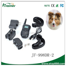100 level shock dog training collar with LCD light, 300m remote range Remote electronic dogs training product with waterproof