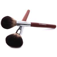Wholesale single portable natural kolinsky hair wooden blush /powder brush cosmetic makeup brush for women