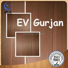 EV Gurjan Veneer Wood Veneer Price List/15mm Waterproof Plywood Board