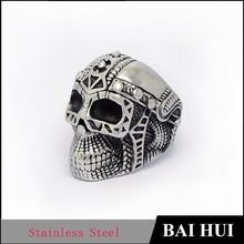 Wholesale Stainless Steel Bkier Skull Ring/Fashion Male Skull Ring Mens Womens Biker Style Ring