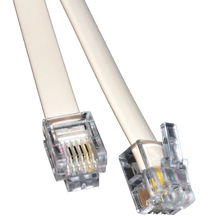 1m ADSL Broadband Modem Cable RJ11 to RJ11 WHITE Short Lead