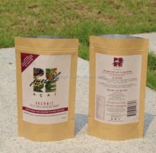 Customize print paper craft bag/small kraft brown paper food bag/kraft paper sandwich bag for food packaging
