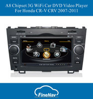 Car dvd player For Honda CRV 2007-2011 A8 Chipset GPS Radio Bluetooth Support DVR Free Map