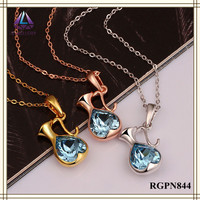 Latest Design High Quality Elegant Crystal Fashion Long Chain Kettle Shape Pendant Necklace For Women