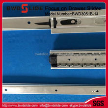 Furniture Hardware Kitchen Cabinet Push Open Drawer Slide Channel with Drawer Slide BWD3051B-14