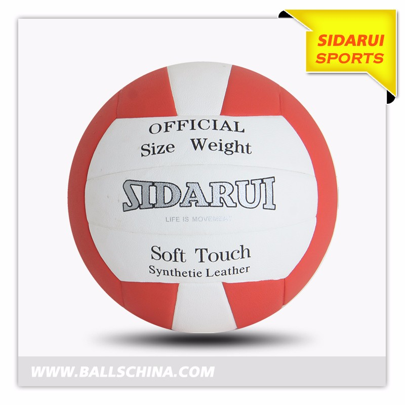 China professional Manufacturer Custom logo and color rubber volleyball87