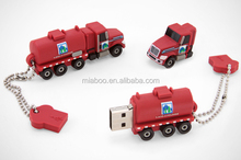 promotional car usb 2gb/4gb, gift custom PVC truck shape usb flash drives, life time guaranteed flash drive usb truck