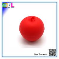 BL-10411 2015 New Designing Silicone Ice Ball Apple Shape Ice Cubes Ice Cube Trays Ice Mold One Cavity