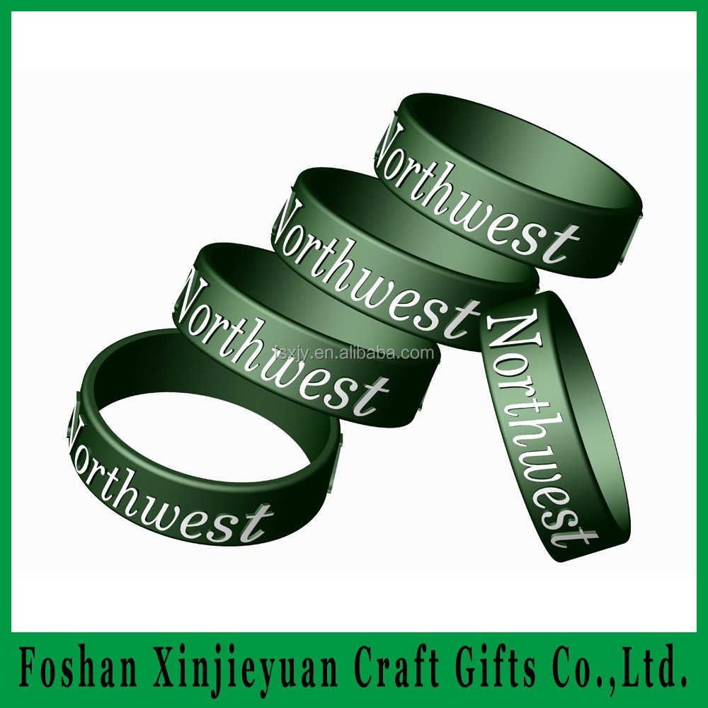 Silicone Bracelets Wristbands Embossed Finger Bracelets Silly Bands