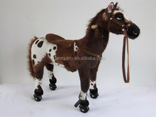 China factory ride on pony toy horse toy plush toy for children