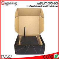 International satellite tv receiver Azplay Nagra3 with DVB-S2 wifi free iptv satellite receiver azbox ultra hd