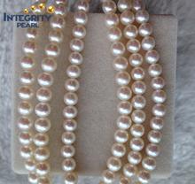 2015 nuevo diseño de color blanco de 5 mm de agua dulce forma redonda filamento de la perla