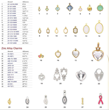 2015 hot selling exclusive fancy lovely heart shaped zinc alloy jewelry charms