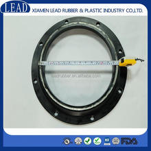 Neoprene rubber molded seal with spring steel