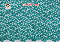 new york wholesale fabric lace chemical laceo fabric for wedding dress lace SL10091 teal