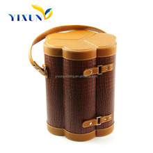 High quality and durable wine case pu leather wine case,wine bottle case