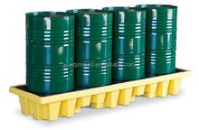 four drum spill pallet, plastic containment pallet