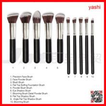 Yash 10 pz capelli sintetici manico in legno personalizzati set di pennelli trucco