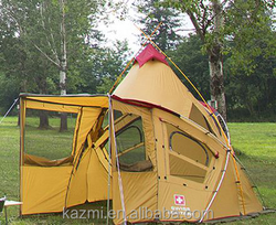 Korean Style Conical Camping Tent Big Family outdoor tent one -room four-door auto tent camping 4-5 person