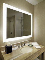 High class design electrical bathroom LED villa mirror with demister pad