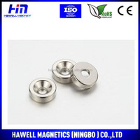 High Power Most Popular Permanent Strong Industrial Cheap Coutersunk Hole Ndfeb Magnet